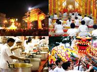 The Thailand Vegatarian Festival is held annually in the month of October