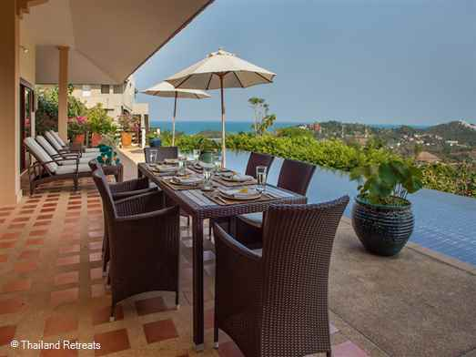 "<p>Alpha Villa is a great 3 - 5 Koh Samui family holiday villa or to chill out with a group of friends. Stunning views and close to popular <a href=""https://www.thailandretreats.com/Location/Choeng-Mon"">Choeng Mon beach </a>and <a href=""https://www.thailandretreats.com/Location/Bophut"">Bophut </a>Fisherman&rsquo;s Village. <span style=""font-size: 10pt; color: #000080;""><strong>Reduced rates for 3 or 4 bedroom occupancy with exclusive use of the villa.</strong></span></p>"