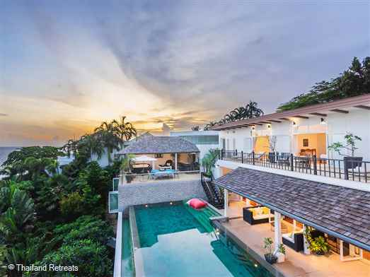 Amanzi is located in a prime position on a headland within an exclusive estate overlooking Kata Noi Beach. This luxuriously appointed Phuket villa features an infinity edge swimming pool, private sauna, media room and outdoor entertainment areas. Access to the Estate's tennis court and fitness centre.
