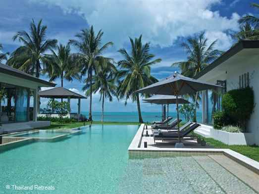 "<p>Baan Asan is a luxury beachfront villa on Taling Ngam beach overlooking the famous 'Five Islands. This Koh Samui contemporary style beach villa is a perfect Koh Samui family holiday villa. <span style=""color: #000080;"">The 6 bedroom Baan Asan offers nightly rates for reduced 4 bedroom occupancy with exclusive use of the villa (certain seasons).</span></p>"