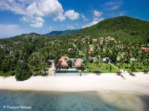 """<p>Baan Dalah is 2-3 bedroom beachfront villa situated on beautiful Big Buddha beach, Koh Samui within walking distance of restaurants bars and convenience stores. Fisherman's Villa in Bophut is a few minutes drive away. <span style=""""font-size: 10pt;""""><strong>R<span style=""""color: #000080;"""">educed nightly rates for 2 bedroom occupancy only with exclusive use of the villa.</span></strong></span></p>"""