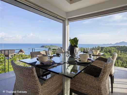 "<p>Baan Fan Noi is a stunning 3-4 bedroom contemporary style Chaweng villa set in the hillside above the bay having amazing views and just 5 mins from lively Chaweng. <strong><span style=""color: #000080;"">Reduced nightly rates for 3 bedroom occupancy only with exclusive use of the villa.</span></strong></p>"
