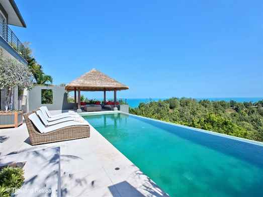 "<p>Baan Kohia is a high spec and expansive contemporary style Chaweng villa just 5 minutes away from the bustle of the famous Chaweng strip and stunning beach. With wonderful views the villa has easy access to all Koh Samui amenities.<span style=""font-size: 10pt;""><strong><span style=""color: #000080;""> Reduced rates for 3 bedroom occupancy only with exclusive use of the villa.</span></strong></span></p>"