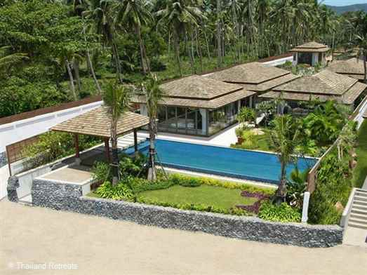 "<p>Baan Leelawadee is a stylish 4 bedroom Koh Samui beachfront villa with infinity edge pool located at the west end of Bophut beach and just 5 minutes drive to popular Fisherman's village. <span style=""font-size: 10pt;""><strong><span style=""color: #000080;"">Reduced nightly rates for 2 or 3 bedroom occupancy with exclusive use of the villa&nbsp;</span></strong></span></p>"