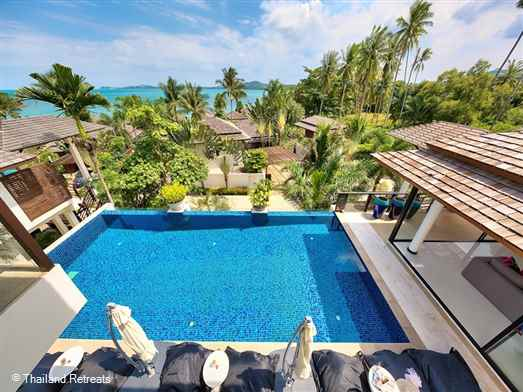 Baan Maliwan is a sea view Koh Samui villa on an exclusive beachside development just a few yards from the beach and 5 minutes drive to Fisherman's Village, Bophut. Offers rates for 2 bedroom and 3 bedroom occupancy (certain seasons).