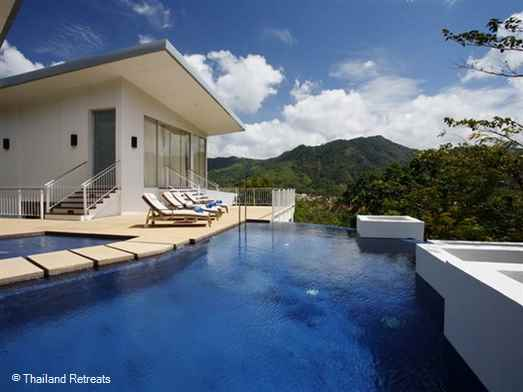 <p>Ban Mayom Coolwater is a wonderful hillside retreat located just a short distance from Kamala beach and within 5 - 10 minutes from other west coast beaches.. A great family or couples sharing villa with a half moon infinity edge pool and views</p>