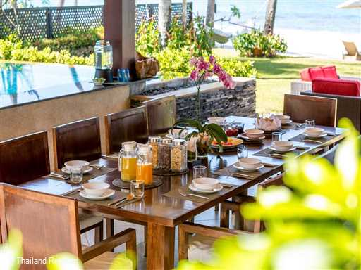 """<p>Baan Ora Chon is a stunning luxury Koh Samui beach villa located directly on the soft white sands of the west facing south Lipa Noi beach. Swimming pool with swim up bar, views over the famous 5 islands. <span style=""""color: #000080;"""">The 4 bedrrom Baan Ora Chon offers reduced nightly rates for 3 bedroom occupancy with exclusive use of the villa (certain seasons)</span>.</p>"""