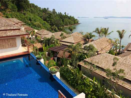 Baan Ratree is a sea view villa located on an exclusive Koh Samui beachside development just a few yards from the beach. 5 minutes drive to Fisherman's Village, Bophut and 10 minutes to lively Chaweng. Offers rates for 2 bedroom and 4 bedroom occupancy (certain seasons).
