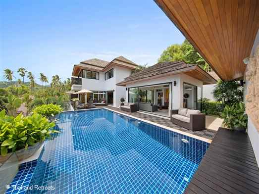 "<p>Baan Ratree is a 2-4 bedroom sea view villa located on an exclusive Koh Samui beachside development on Bophut beach. 5 minutes drive to Fisherman's Village, Bophut and 10 minutes to lively Chaweng. <span style=""font-size: 10pt;""><strong><span style=""color: #000080;"">Reduced rates for 2 or 3 bedroom occupancy with exclusve use of the villa.</span></strong></span></p>"