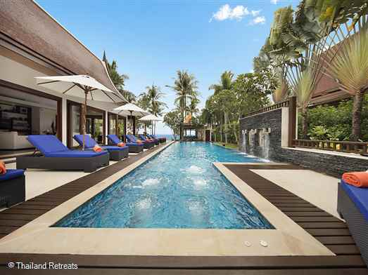 <p>Baan Samlarn is a luxury beachfront Koh Samui villa set on Lipa Noi beach on the west coast of Koh Samui. Excellent blend of indoor and outdoor living, alfresco dining, infinity pool, outdoor Jacuzzi &amp; shared gym. <em>Offers reduced rates for 3 bedroom or 4 bedroom occupancy (certain seasons).</em></p>