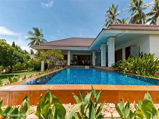 Baan Sansuk is a popular and spacious Koh Samui holiday villa representing good value located in the central location of Maenam within a secure private estate. Has communal gym and is just 2.2km from beautiful Maenam beach and village.