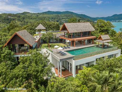 <p>Baan Santisuk is an amazing 5 bedroom Phuket villa perched on a headland between two beaches. Has 2 sundecks and a fully equipped health and fitness centre, table tennis table and cinema.</p>
