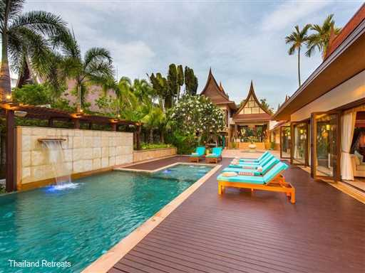 <p>Baan Tao Talay is a luxury 5 bedroom beachfront Samui villa located on the idyllic sands of Lipa Noi beach on the west coast of Koh Samui.&nbsp; Large landscaped gardens and outdoor relaxation areas.&nbsp; <em>The villa offers reduced rates for 3 or 4 bedroom occupancy only</em></p>