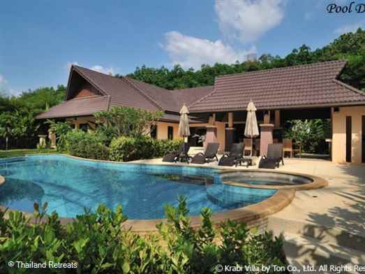 Set in vast gardens this luxury villa boasts saltwater private pool, petanque ground and bar and BBQ area. 4km from Ao Nang Centre
