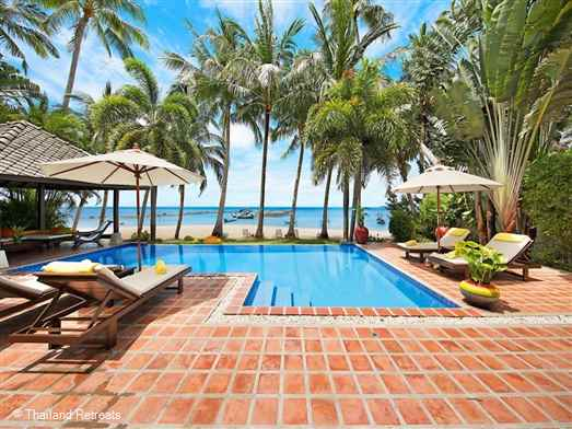 "<p>Ban Laem Sor villa is a Koh Samui beachfront villa based on tropical fusion and the outdoor living concept located on the quiet unspoiled south coast. Excellent relaxation areas and beachside pool. <span style=""font-size: 10pt;""><strong>R<span style=""color: #000080;"">educed rates offered for 3 bedroom occupancy with exclusive use of the villa</span></strong></span></p>"