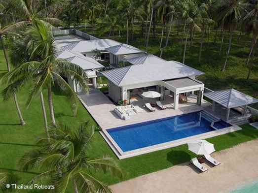 "<p>La Lagune is a luxurious and stylish contemporary style beachfront Koh Samui villa located on Laem Sor beach in the tranquil south of the island. Has a beautiful pool and relaxation areas and a private tennis court. <span style=""color: #000080;"">Offers reduced rates rates for 3 bedroom occupancy with exclusive use of the villa certain seasons.</span></p>"