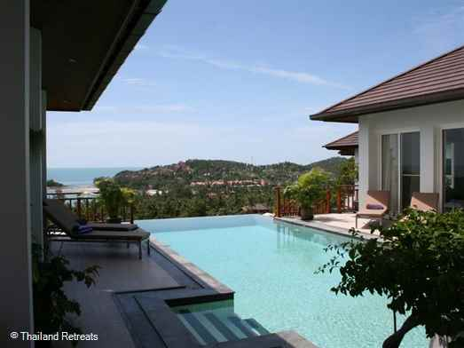 On The Rocks villa is located walking distance to Choeng Mon beach and village. Beautifully decorated as the owners second home in Koh Samui it has excellent sea views from all rooms and a lovely infinity pool with views over the bay.