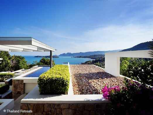<p>Samujana 6 is a Koh Samui contemporary style villa on a luxury development, a short drive from Choeng Mon beach and lively Chaweng. Infinity pool and gym. Views of the ocean and Matlang island.</p>