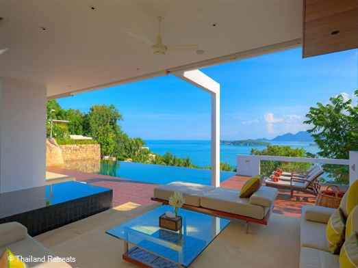 Samujana 7 is a contemporary style Koh Samui villa with breathtaking views featuring an infinity edge pool & spacious decking. A short drive to Choeng Mon beach and lively Chaweng.
