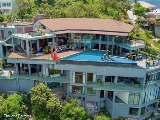 "<p>Villa Skyfall is a vast contemporary style Koh Samui villa with state of the art high tech facilities. Cinema, 2 bar areas and panoramic views. 5 mins to the beach. 10 minutes to popular Fisherman's Village, Bophut. <span style=""color: #000080;"">Reduced rates for 5 &amp; 6 &nbsp;bedroom occupancy with exclusive use of the villa certain seasons.</span></p>"