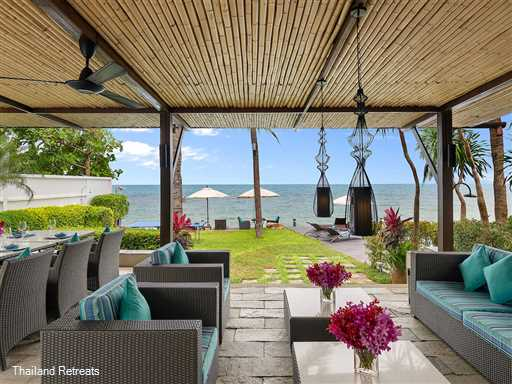 """<p>Villa Chi is a luxury 3-5 bedroom beachfront Koh Samui villa set within a small beachside resort. Sophisticated interior, views over to Koh Phangan, private 20m lap pool and 25m resort pool. <span style=""""font-size: 10pt; color: #000080;""""><strong>Reduced rates for 3 bedroom occupancy only with exclusive use of the villa</strong></span></p>"""