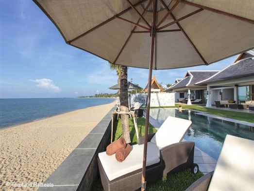 The Residence comprises 2 x luxury and elegant beachfront Koh Samui villas. Private gym, conference facilities. Sleeps 28 adults/12 kids max, Ideal for large family occasions, weddings and celebrations. Offers rates for 10, 11, 12, 13 and 14 bedroom occupancy.