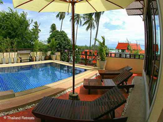 A luxury and spacious villa with private pool near the main ferryport town of thong Sala a lovely place to relax and return home to after exploring the island.