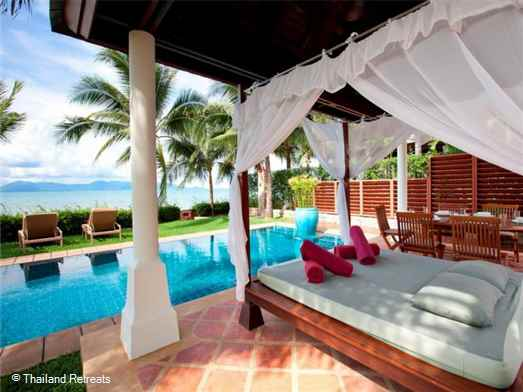 "<p>Villa Acacia is a fully staffed 4 bedroom luxury Koh Samui beachfront villa located on beautiful Maenam Beach. Has stunning view, a swimming pool and private gym. <span style=""font-size: 10pt; color: #000080;""><strong>Reduced rates for 2 &amp; 3 bedrooms only with exclusive use of the villa.</strong></span></p>"
