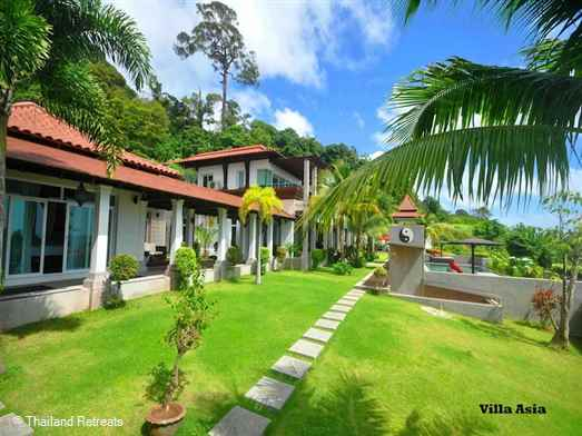 Villa Asia is a luxurious 7 bedroom private estate and being 80 meters above Kalim Beach with Views over Patong Bay. The villa has an array of facilities including gym, sauna and yoga area.
