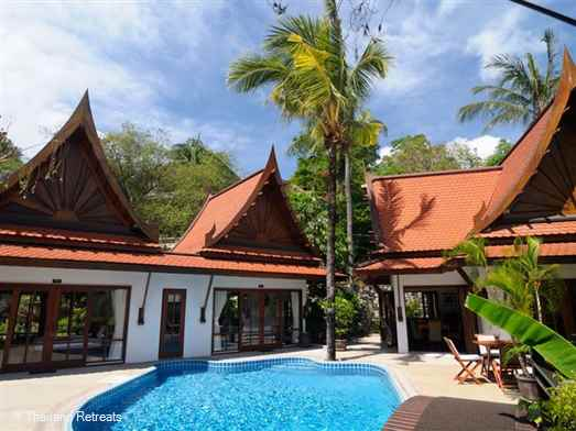 Situated in Kathu near Patong Beach, 5 individual villas with en suites, sleeps 10. All Inclusive Thai menu package. Pool, games room and home cinema.