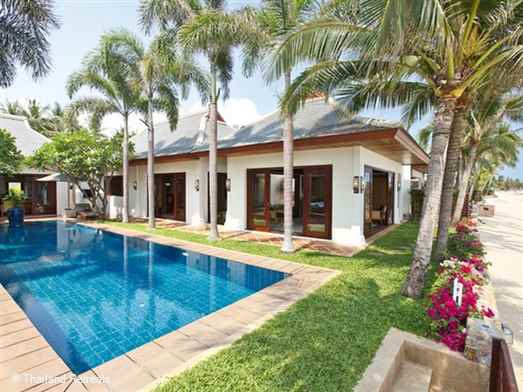 Villa Gardenia is a high end luxury Koh Samui villa set within an exclusive beachfront estate on a beautiful long sandy beach with good swimming. Fantastic views over to Koh Phangan and centrally located. 5 minutes from Fisherman's village. Offers 2 bedroom and 4 bedroom occupancy.