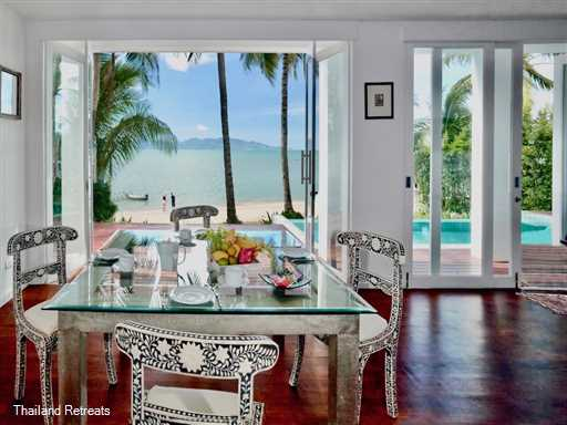 Villa M is beautifully furnished Koh Samui beach house situated on the beach atFisherman's village Bophut. Restaurants, chill out coffee bars, fashion and jewelry shops right on your doorstep. Offers rates for 3 bedrooms and 5 bedroom options.