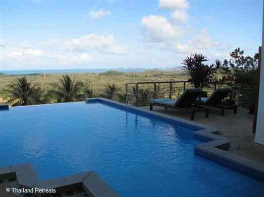 Villa Mussoorie is a very private villa situated on an exclusive hillside village on the north west of Koh Samui enjoying stunning views over the ocean to Big Buddha Temple. Located close to 18 hole  golf course. Palm fringed sandy beach and beach restaurants nearby.