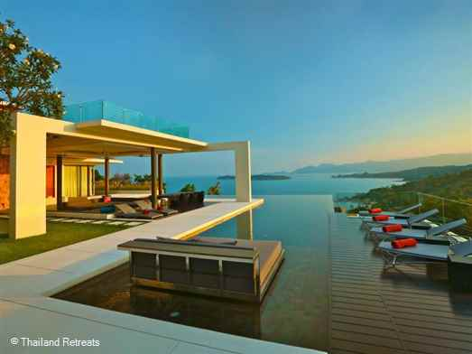 <p>Villa Sankachai is a stunning ocean view luxury Koh Samui villa offering the ultimate in luxury. Tropical living featuring a gym, pool table, roof top BBQ area, a cinema and communal tennis courts.</p>