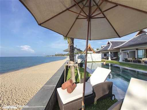 Villa Sila is one of our finest luxury Koh Samui villas. This elegant beachfront residence set inn a long sandy swimming beach is perfect for large family groups especially with young children. Ideal for weddings, celebrations and reunions. Offers rates for 5 6 and 7 bedroom occupancy.