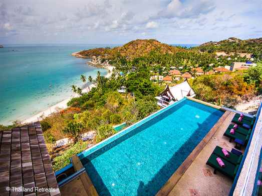 "<p>Baan Talay Sai is a superb 3-5 bedroom luxury villa overlooking Tongsai Bay in an exclusive area on the north east of Koh Samui. Features 4 master bedrooms and a further guest room. Large terrace and stunning ocean views. Beach access just 250m away via path <span style=""font-size: 10pt;""><strong>R<span style=""color: #000080;"">educed rates for the use of 3 or 4 bedroom occupancy with exclusive use of the villa.</span></strong></span></p>"