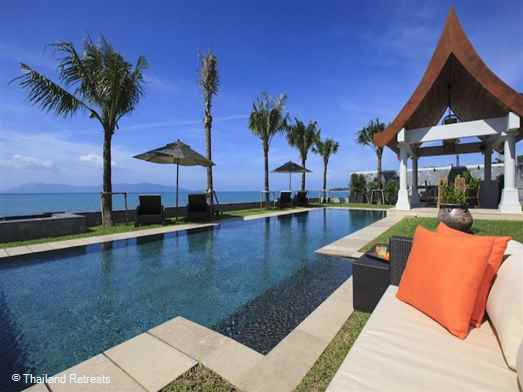 Villa Wayu is an elegant beachfront villa and one of our finest luxury villas on Koh Samui. Set on a long sandy beach it is perfect for large family groups especially with young children. Ideal for weddings, celebrations and reunions. Offers rates for 5 bedroom, 6 bedroom and 7 bedroom occupancy.