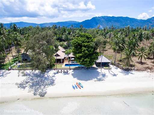 "<p>Waimarie is a superb Koh Samui luxury villa on a west coast beach with great sunset views. Family friendly with a playground, sea kayaks, SUP, tennis court. <span style=""font-size: 10pt;""><strong>R<span style=""color: #000080;"">educed rates for the use of 4 or 5 bedroom occupancy with exclusive use of the villa.</span></strong></span></p>"