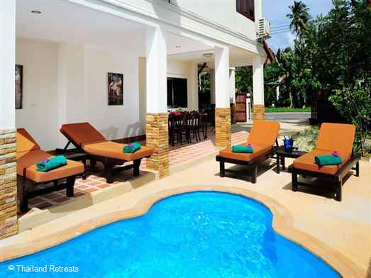 Baan Ja Id is a stylish Krabi holiday villa situated close to restaurants and shops and just 1.3km to Ao Nang beach - A perfect private vacation villa for a family or group of friends