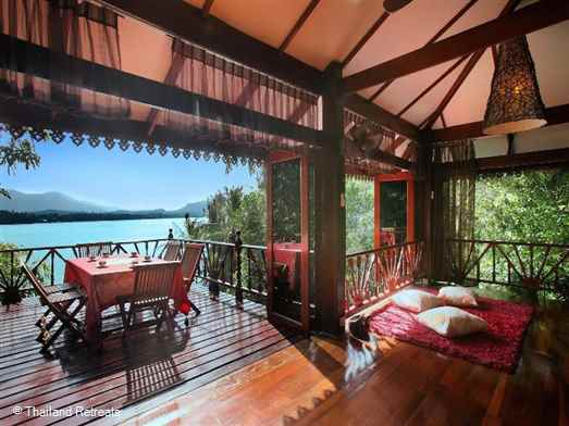 Serenity Lodge - A stunningly luxurious well appointed six bedroom villa witha  a private pool and separate jacuzzi ideally situated on the waters edge at Srithanu