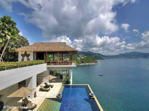 "A fantastic and luxurious Phuket villa set in 2 acres at one end of the ""Millionaires Mile"" right on the waters edge overlooking Patong Bay. This exclusive villa oozes luxury and space with views from all rooms."