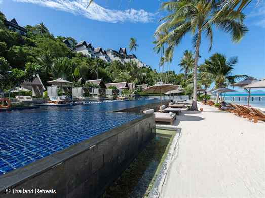 "<p>Baan Hansa is located within the 5 star Intercontinental hotel set on Ban Taling Ngam beach on the exclusive south west coast of Koh Samui. Guests have use of all facilities including Spa, Fitness Centre, 7 pools. Perfect for multiple families or groups of friends. <span style=""color: #000080;"">Baan Hansa villa offers reduced nightly rates for 3 bedroom occupancy only with exclusive use of the villa ( certain seasons).</span></p>"
