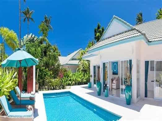 Baan Khwam Rak is a Koh Samui resort villa set within a beachside village on the quiet south east coast. The resort has a host of amenities including a beachfront beach club, restaurant, gym, yoga and tennis. 20 mins from popular Lamai by shuttlebus.