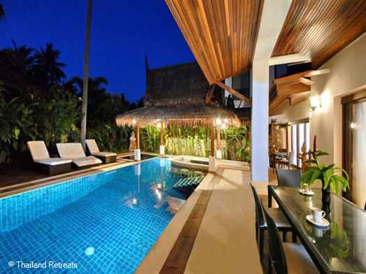 Baan Oasis is a Koh Samui resort villa with private pool located a few steps away from the beach on a secure beachside village on the south east coast of Koh Samui. On site amenities include a beachfront Beach Club, restaurants, Tennis, gym spa and beach games.