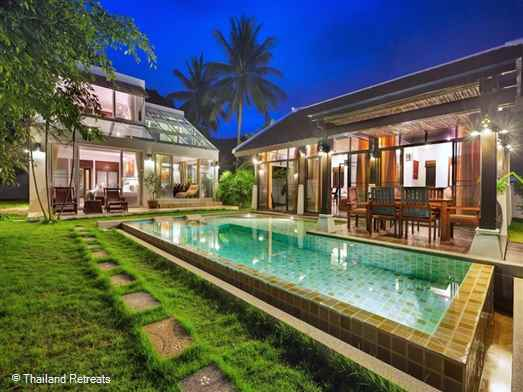 Emerald Sands is a 3 Bedroom beachfront Villa located on Laem Noi beach offering a superb private landscaped lawn area with ocean-view swimming pool.