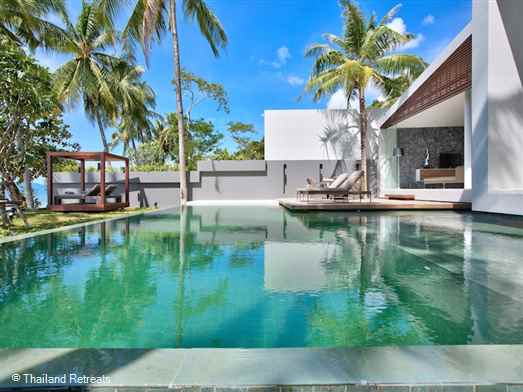 Villa Neung is located on a small beachfront development of contemporary style Koh Samui villas located on a secluded cove in the up and coming north west of Koh Samui adjacent to the Four Seasons hotel. The villa offers a 2 bedroom and 3 bedroom occupancy.