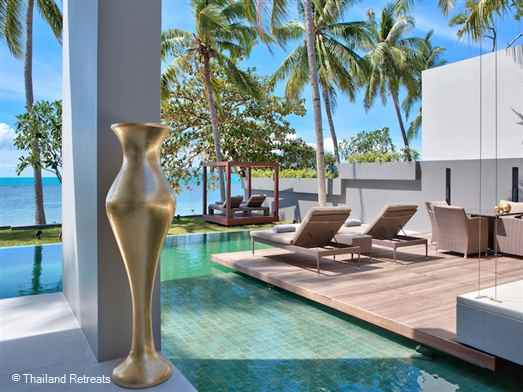 "<p>Villa Neung is located on a small beachfront development of contemporary style Koh Samui villas located on the up and coming north west of Koh Samui adjacent to the Four Seasons hotel. <span style=""font-size: 10pt;""><strong><span style=""color: #000080;"">Reduced&nbsp;rates for a 2 bedroom occupancy only.</span></strong></span></p>"
