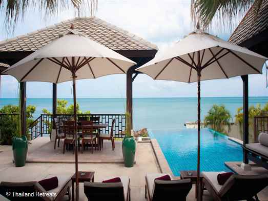 Kanda Beach Villa 2 is one of 2 Koh Samui beachfront villas located in a 5 star resort on the east coast of Koh Samui just 5 minutes from lively Chaweng town and beach. Resort has beachfront restaurant, gym and kiddies club.