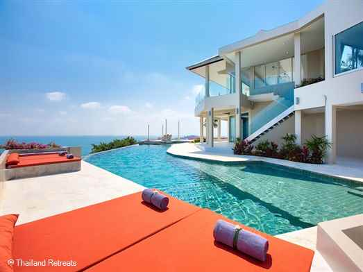 "<p>Baan Bon Khao is a stunning 6 bedroom contemporary style luxury Koh Samui holiday villa with panoramic views over the north east of Koh Samui. Popular area close to all amenities. <span style=""color: #000080;"">The 6 bedroom Baan Bon Khao offers reduced rates for 3,4 or 5 bedrooms occupancy with exclusive use of the villa (certain seasons).</span></p>"