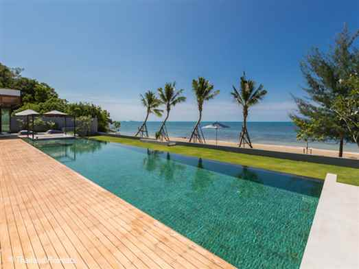 Villa Malouna is a stunning beachfront Koh Samui vacation villa located on a quiet beach and ideal for large parties to spend time together yet have their own private space. The villa offers rates for 4, bedroom, 5 bedroom and 6 bedroom occupancy.